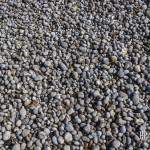 Texture de petits galets sur les plages d'Etretat