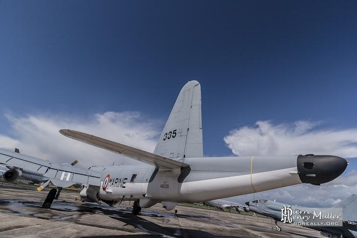 Arrière d'un Lockheed P2V-7 Neptune au musée du Bourget