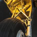 Mécanisme du train d'atterrissage du Douglas Dakota C47 au Bourget