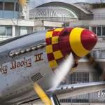 North American P-51D Mustang en ventilation moteur au Bourget