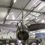 Tourelles canon 12,7mm sous la dérive du B-26 Marauder au Bourget