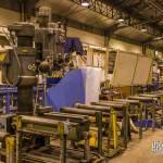 Atelier de courbure des rails aux ateliers de la Villette à la RATP