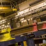 Plateforme de stockage des rails traités par les ateliers de la RATP