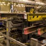 Stockage des rails dans les ateliers de la Villette de la RATP