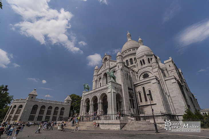 basilique du sacr c ur de montmartre dans le 18 me. Black Bedroom Furniture Sets. Home Design Ideas