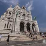 Façade de la Basilique du Sacré-Cœur de Montmartre à Paris 18 ème arrondissement
