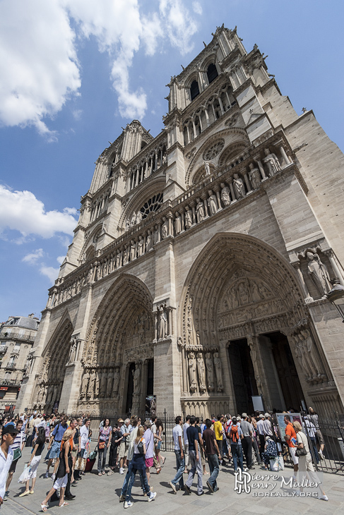 Façade de la Cathédrale de Notre-Dame de Paris
