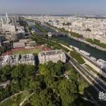 La Seine et le 15ème et 16ème arrondissement de Paris depuis la Tour Eiffel