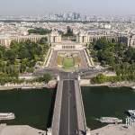 Le Trocadéro, l'ouest parisien et le quartier de la Défense vue depuis la Tour Eiffel