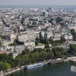 Vue de Paris et l'Arc de Triomphe depuis la Tour Eiffel