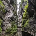 Chemin suspendu dans les gorges de Kakuetta