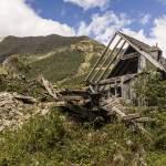 Ruine d'une maison de montagne dans les Pyrénées espagnoles