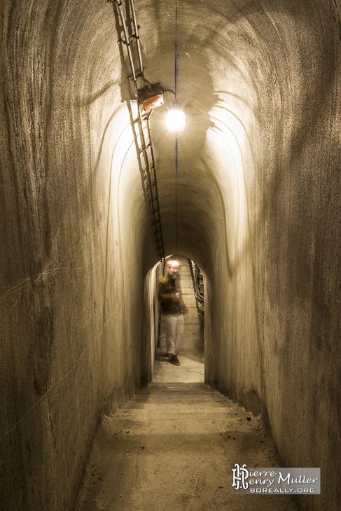 Galerie technique d'accès au bunker de la Gare de l'Est