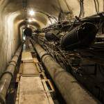 Galerie technique dans les souterrains de la Gare de l'Est