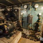 Salle de machinerie avec ses systèmes d'oxygénation du bunker