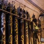 Bouteilles de gaz 50 litres dans l'abri bunker Lefebvre à Paris