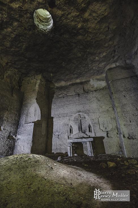 Chapelle souterraine des poilus en Picardie à Chauffour
