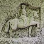 Officier français de la première guerre mondiale à cheval