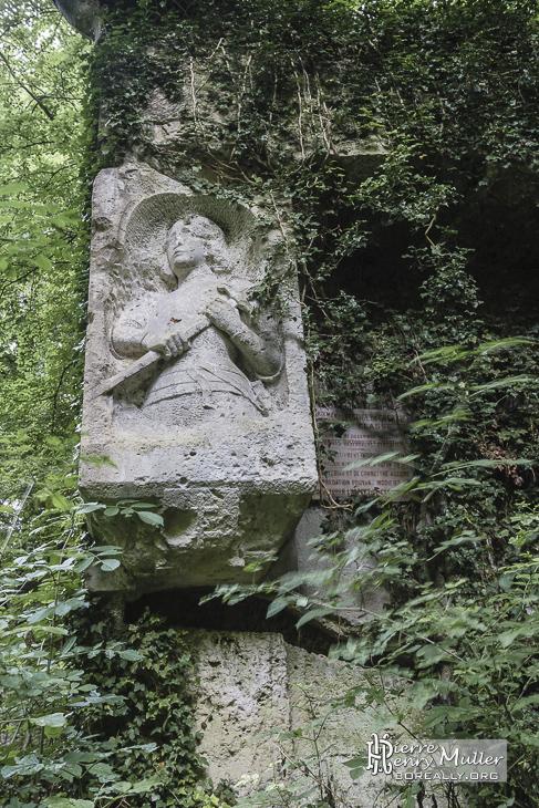 Sculpture de Jeanne d'Arc à la carrière du Chauffour