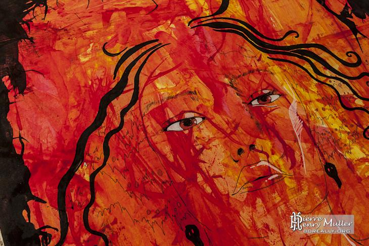 Peinture portrait de femme par les Petits Artistes Parisiens