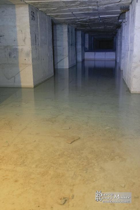 Galerie inondée dans la carrière Hennocque de Méry sur Oise