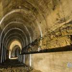 Galerie de train de la gare souterraine allemande à Hennocque