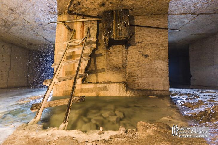 Source d'eau de la carrière souterraine Hennocque de Méry sur Oise
