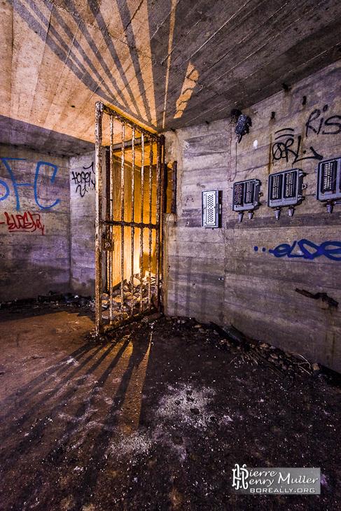 Entrée du bunker de l'Otan dans la forêt de Saint Germain en Laye
