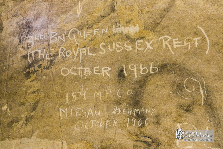 Inscription 3rd Battalion Queen's Regiment Royal Sussex Regiment