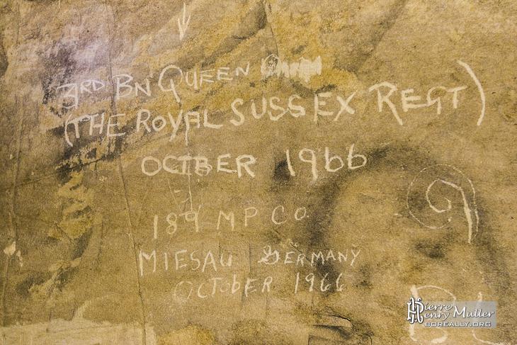 Inscription 3rd Battalion Queen's Regiment Royal Sussex Regiment