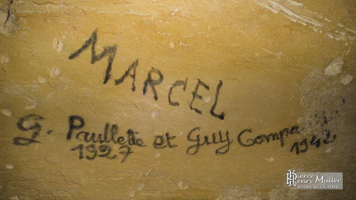 Inscription au ciel de carrière Marcel Paullette et Guy 1927 1942