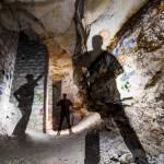 Open Flash dans une galerie de la carrière souterrain Pinton