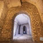 Arche de meulière de grande taille dans la carrière souterraine de Port Marly