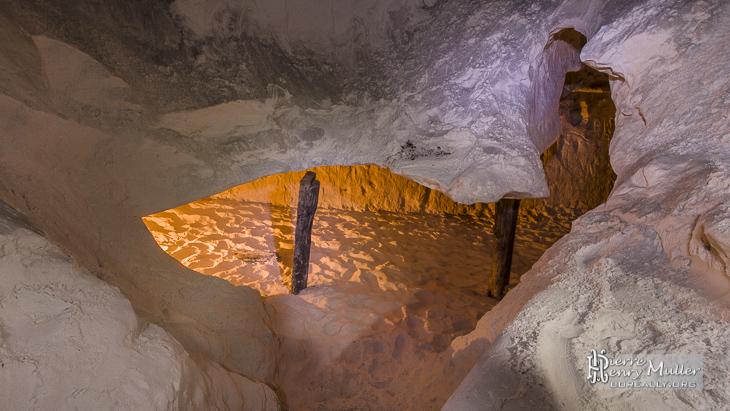 Galerie souterraine de la carrière de grès
