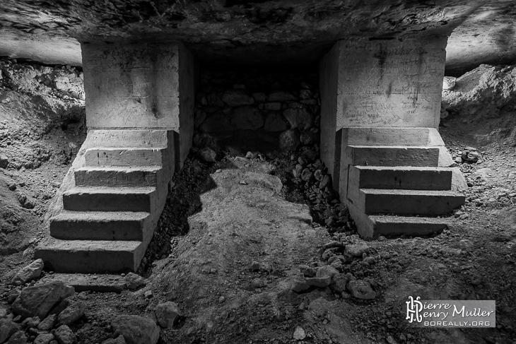 Double escalier minéralogique M. Guérinet sous le faubourg Saint-Marcel
