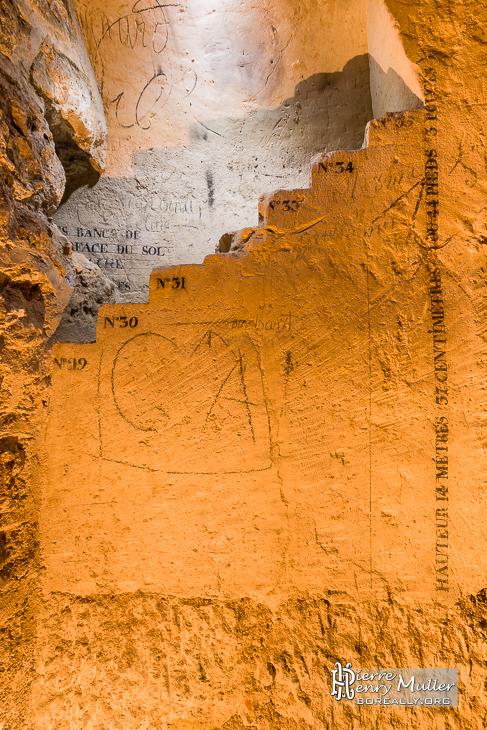 Escalier minéralogique de la route de Fontainebleau