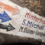 Indications des sorties du bunker allemand du lycée Montaigne