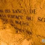 Inscriptions incomplètes du triple cabinet minéralogique des catacombes