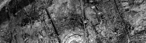 ...Détail d'une plaque d'identification d'un tonneau en bois....