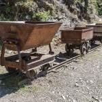 Différentes modèles et tailles de berlines, wagon des mines de zinc