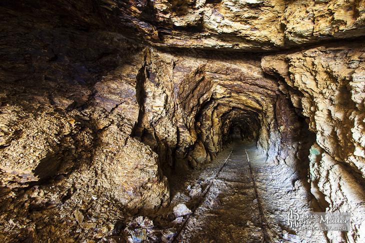 Galerie d'une mine de zinc en Espagne