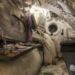 Cabine de pilotage du tunnelier hermétiquement fermé et pressurisé