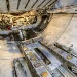 Liaison galerie tunnelier et transporteur à rouleau pour les voussoirs