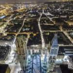 Toits de Rouen depuis le sommet de la flèche de la Cathédrale