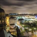 Châtelet les Halles, Beaubourg et les toits de Paris de nuit depuis Saint Eustache