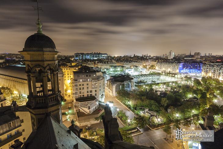 Ch telet les halles beaubourg et les toits de paris de nuit depuis saint eus - Chatelet les halles paris ...