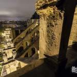 Promenade sur le chemin de ronde de l'Eglise Saint Eustache de nuit