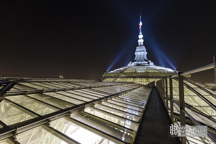 Chemin de ronde de la verrière du Grand-Palais à Paris