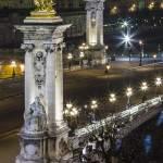 Pont Alexandre III de nuit depuis le Grand-Palais