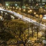 Pont des Invalides de nuit depuis le toit du Grand-Palais